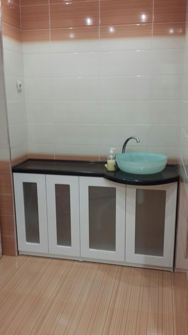 Столешница Samsung с радиусом в ванной